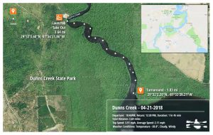 Dunns Creek Paddle Map