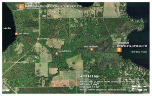 Santa Fe Canal Paddle Map