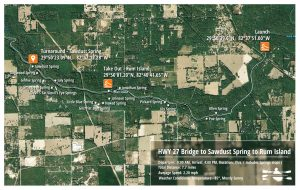 Santa Fe River Springs Paddle Map