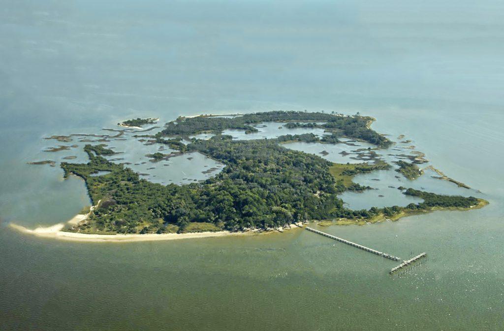 Aerial view of Atsena Otie Key