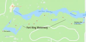 Fort King Waterway Map