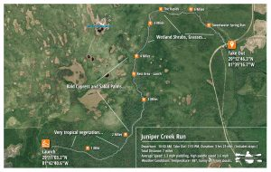 Juniper Creek Run - Paddle Map
