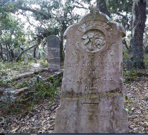 Headstone at Atsena Otie Cemetery