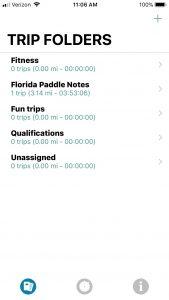 Paddle Logger - Trip Folders