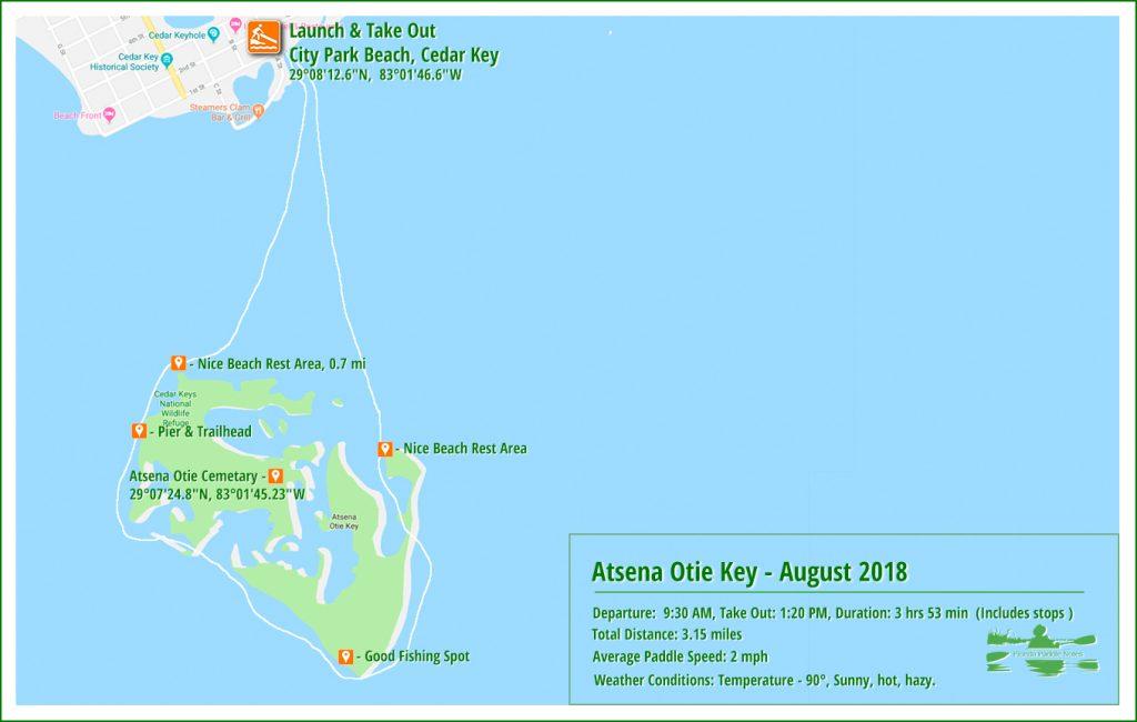 Paddle Map - Atsena Otie - Aug 2018