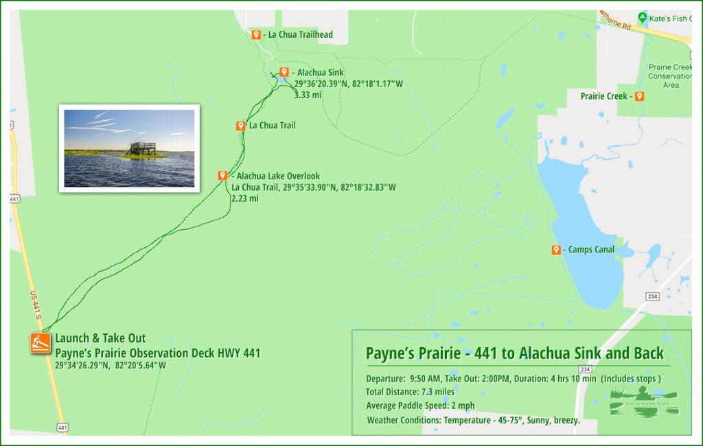 Payne's Prairie Paddle Map