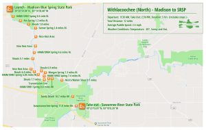 Paddle Map - Withlacoochee River North