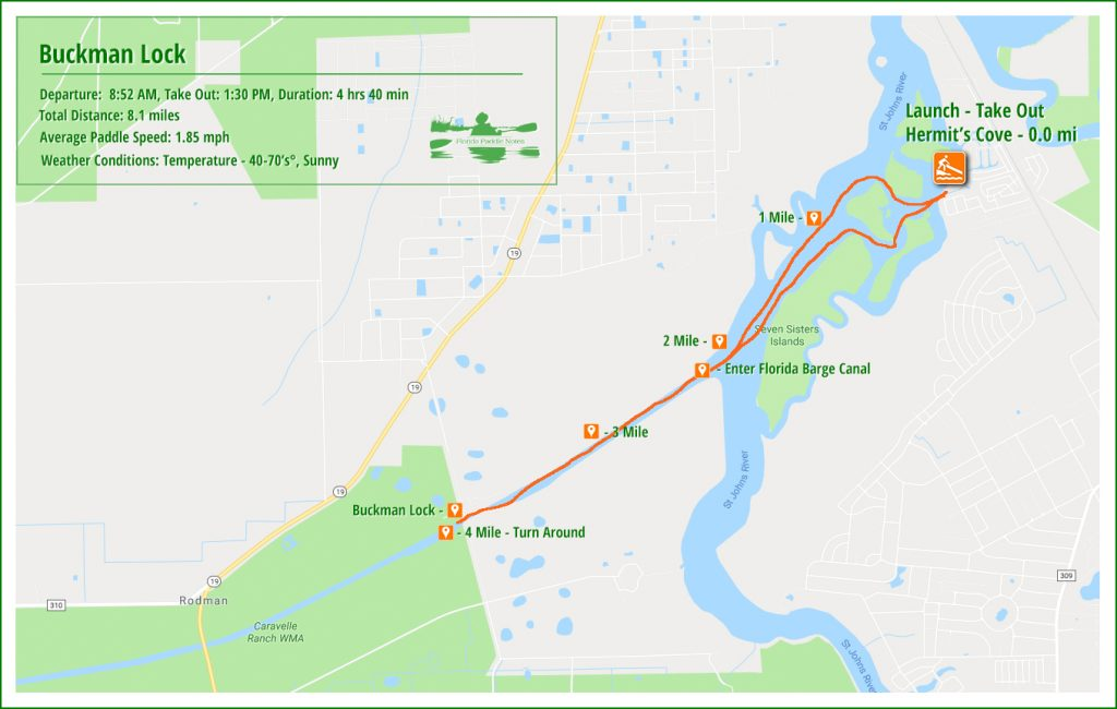 The Buckman Lock Paddle Map