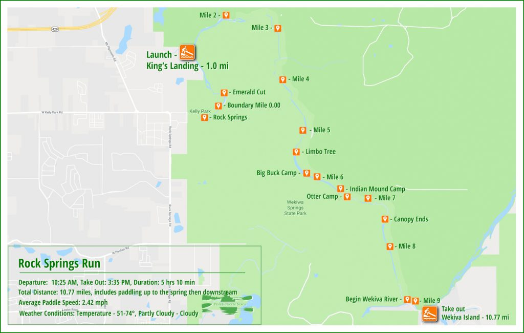 Rock Springs Run Paddle Map
