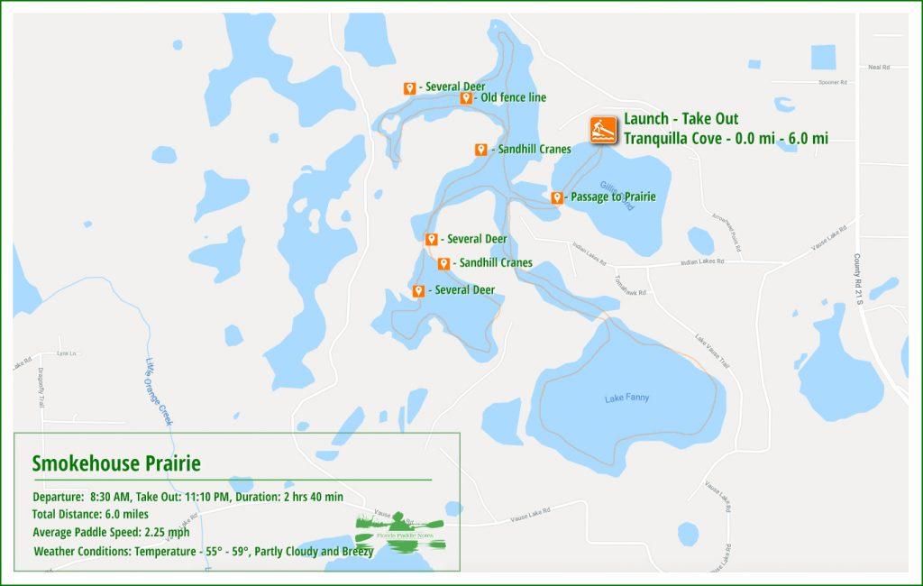 The Smokehouse Prairie Paddle Map