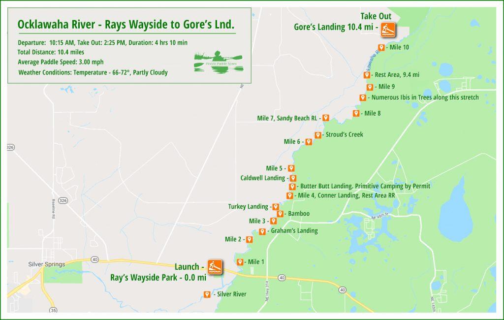 Ocklawaha River Paddle Map