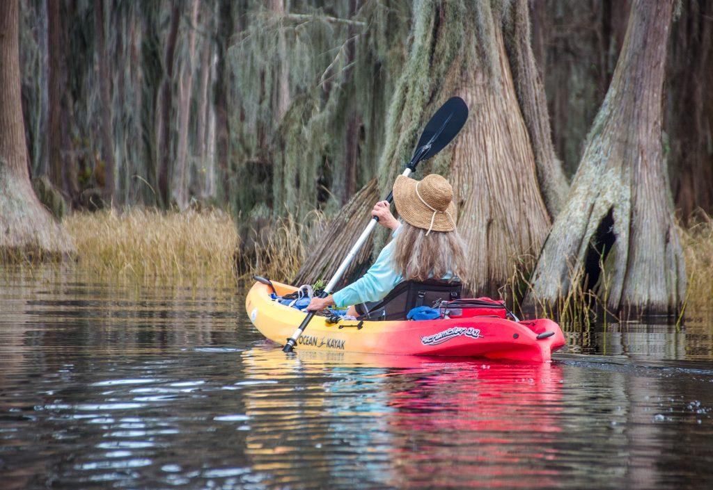 Donna Paddles Santa Fe Lake