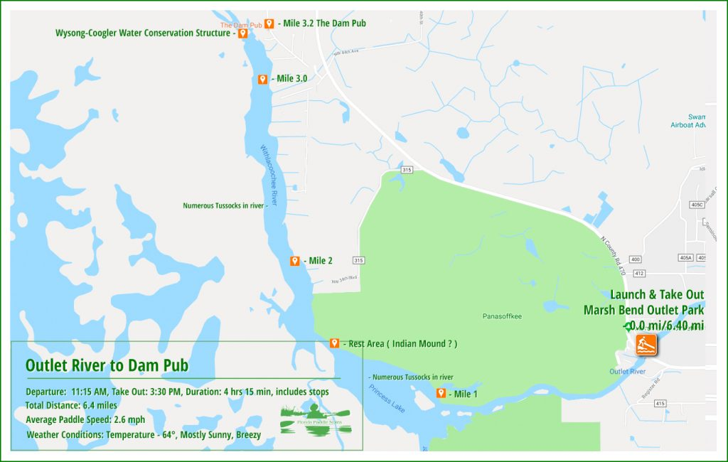 Outlet River Paddle Map