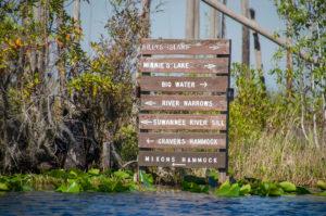Directional Sign on Okefenokee