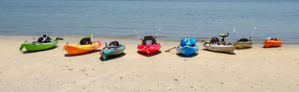 Kayaks on Cumberland Island