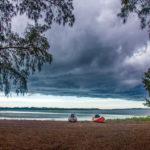 Rain moves in over Mullet Key Bayou