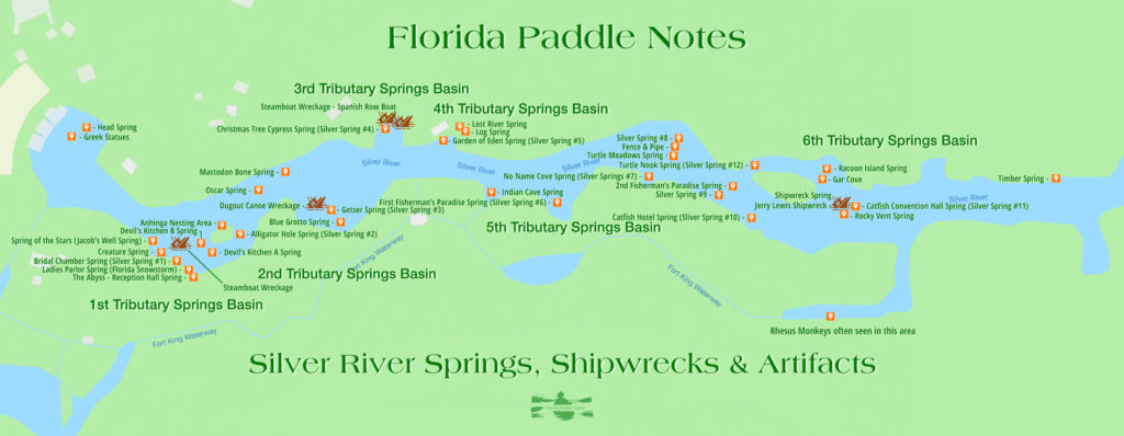 Silver River Springs, Shipwrecks and Artifacts