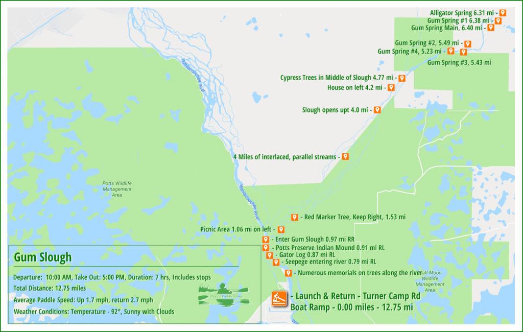 Gum Slough Paddle Map