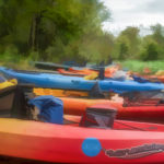 Kayaks at Davenport Landing - WC
