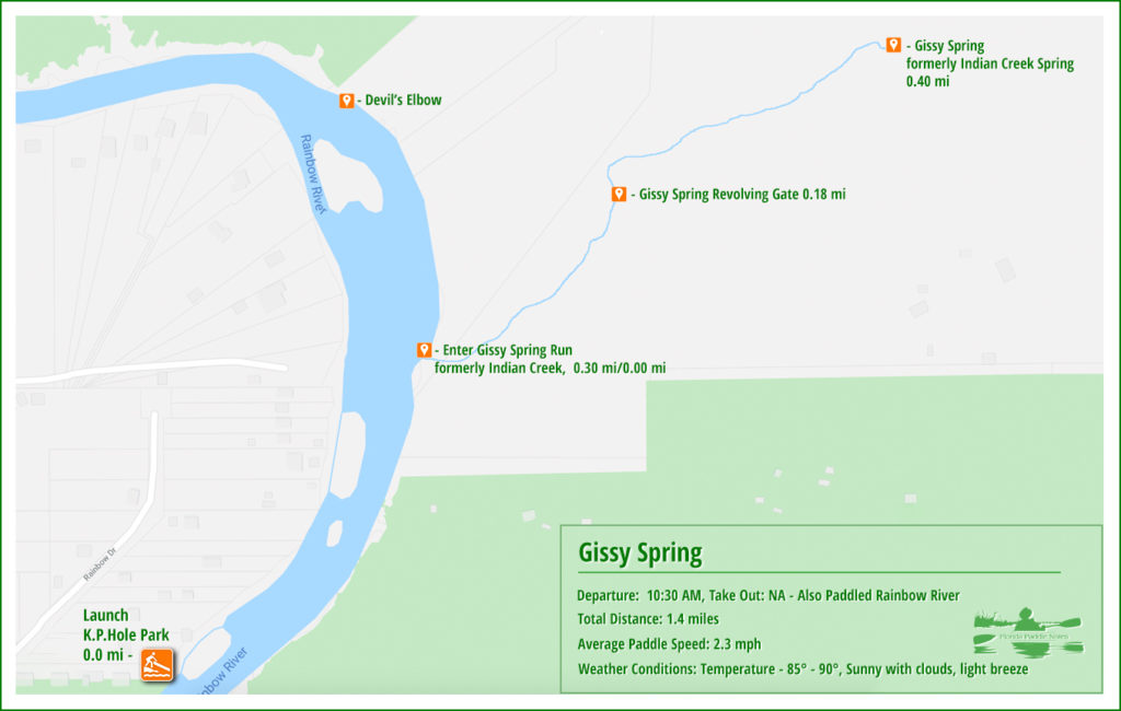 Gissy Spring Paddle Map