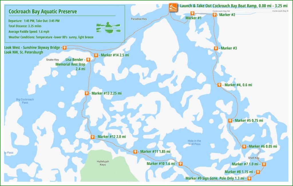 Cockroach Bay - Horseshoe Run Paddle Map