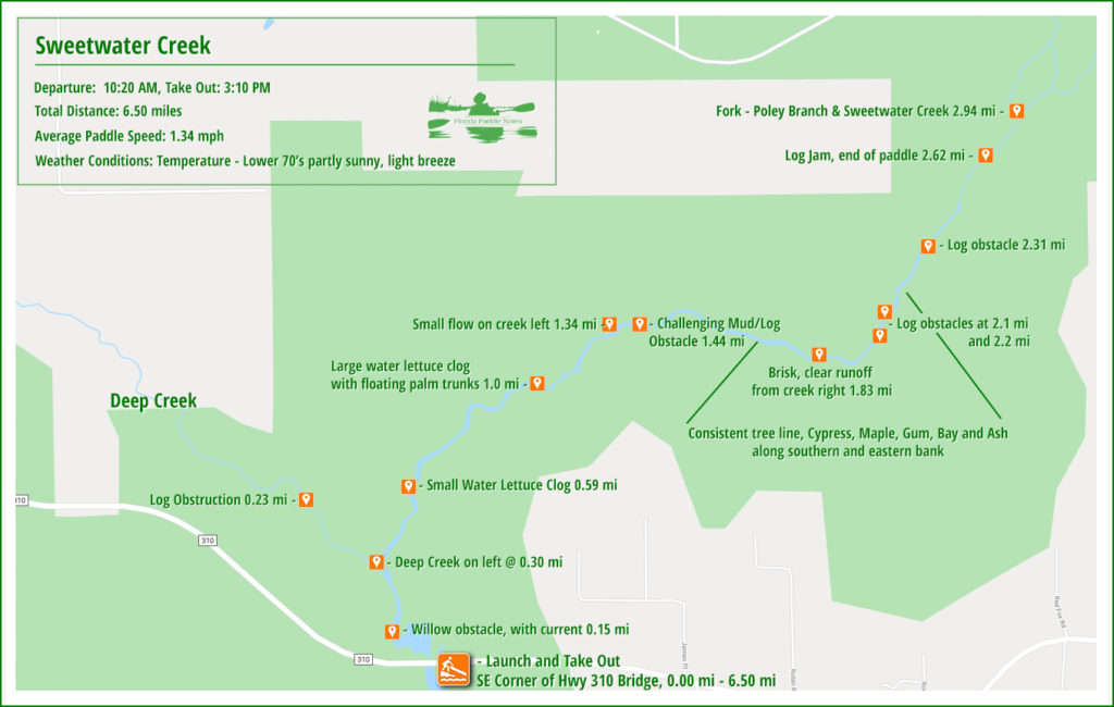 Sweetwater Creek Paddle Map