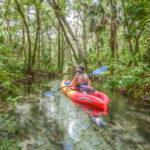 Donna paddles Indian Creek