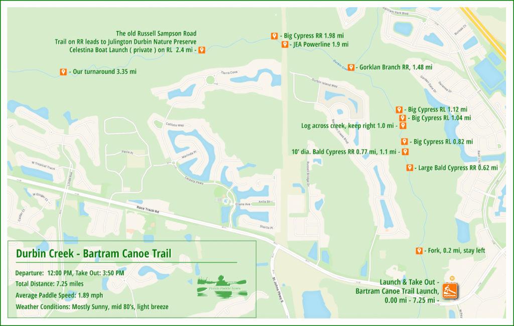 Durban Creek Paddle Map