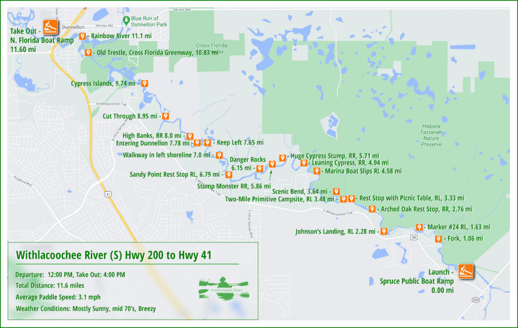 Withlacoochee River (S) Paddle Map
