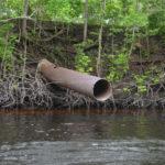 Ocklawaha Prairie Restoration Area Drainage Pipe
